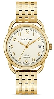 Bulova Limited Edition Joseph Commodore Stainless Steel Bracelet Automatic Watch, 34mm