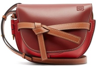 Loewe Gate Small Bi-colour Leather Cross-body Bag - Womens - Red Multi