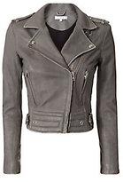 IRO Luiga Grey Moto Leather Jacket