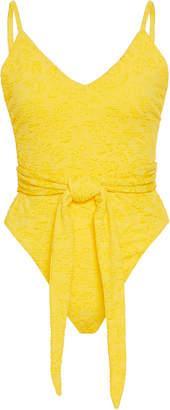Mara Hoffman Gamela Tie-Front One-Piece Swimsuit