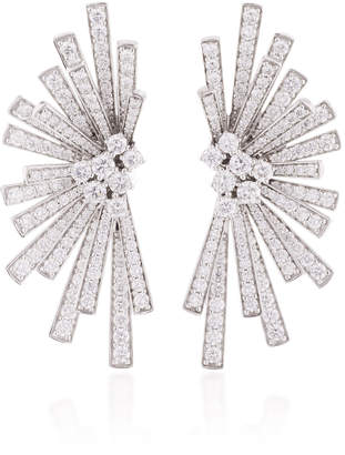 Hueb Mirage 18K White Gold and Diamond Earrings