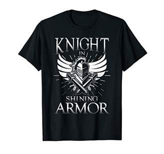 Mens Knight in shining Armor | brave sword gift T-Shirt