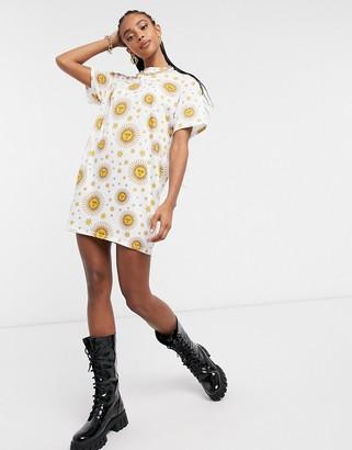Rokoko oversized t-shirt dress in celestial print
