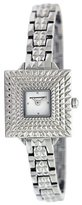 BCBGMAXAZRIA Women's BG8297 Vintage Square Retro Silver Analog Bracelet Watch