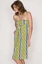 T-Bags Braided Ruched Tube Knee-Length Dress in L6
