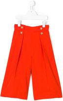 Elisabetta Franchi La Mia Bambina - button embellished cropped trousers - kids - Polyester - 4 yrs