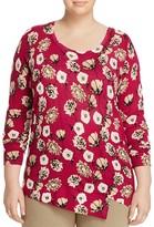 Marina Rinaldi Abazzia Floral Print Wool Sweater