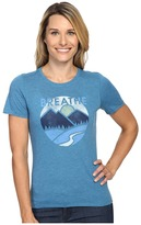 Life is Good Breathe Mountains Cool Tee