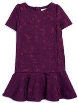 Kate Spade Girls 2-6x Drop Waist Floral Dress