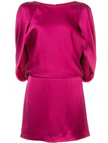 Halston cape style sleeve dress