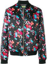 Versace floral printed bomber jacket