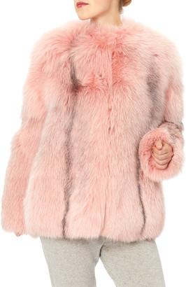 Oscar de la Renta Arctic Marble Fox Fur Jacket