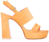 Santoni platform sandals - women - Leather/Suede - 36.5