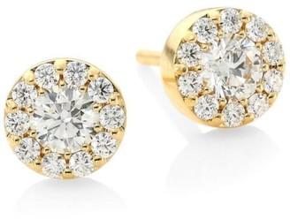 Hearts On Fire Fulfillment 18K Yellow Gold & Diamond Stud Earrings