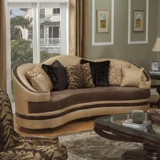 "Benetti's Italia Emma Curved 98"" Round Arm Sofa"