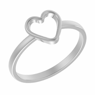 Tishavi Solid .925 Sterling Silver Ring Size 7 with Heart Design