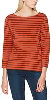 French Connection Women's Tim Stripe 3/4Slv Top T-Shirt
