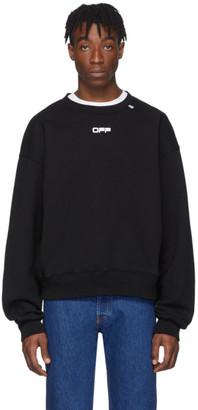 Off-White Off White Black Wavy Line Logo Sweatshirt