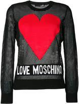 Love Moschino logo mesh jumper