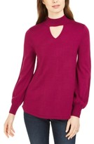 Style&Co. Style & Co Mock-Neck Keyhole Sweater, Created For Macy's