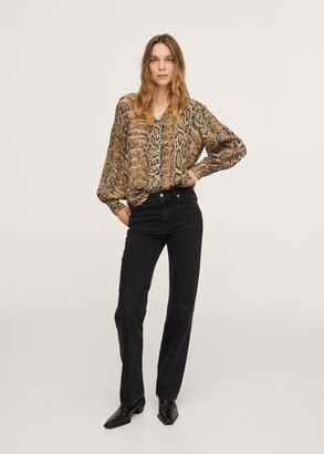 MANGO Snake print shirt brown - 2 - Women