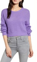 Cupcakes And Cashmere Rhonda Crop Fuzzy Sweater