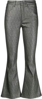 Dondup metallic flared trousers
