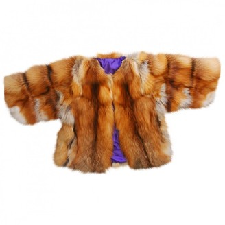 Non Signé / Unsigned Non Signe / Unsigned Orange Fur Coat for Women