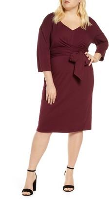 ELOQUII Tie Waist Dress