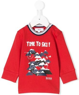 Boss Kidswear mountain print T-shirt