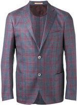 Corneliani checked blazer - men - Silk/Linen/Flax/Virgin Wool - 52