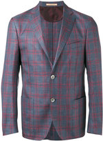 Corneliani checked blazer - men - Silk/Linen/Flax/Virgin Wool - 54