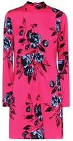 McQ Floral-printed satin dress