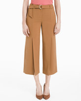 White House Black Market Wide-Leg Split Cropped Pants