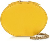 Cafuné Cafune Dandelion Yellow Leather Egg Chain Shoulder Bag