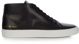 Common Projects New Court mid-top leather trainers