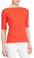 Lauren Ralph Lauren Stretch Cotton Boatneck Tee