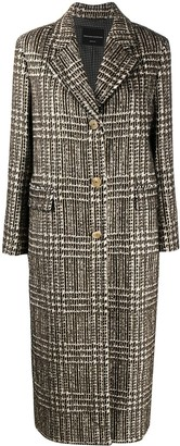 Ermanno Scervino Check Fitted Wool Coat