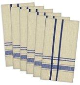 """DII 100% Cotton, Oversized Basic Everyday 20x20"""" Napkin Set of 6, Nautical Blue French Stripe"""