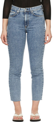 Rag & Bone Blue Nina High-Rise Ankle Cigarette Jeans