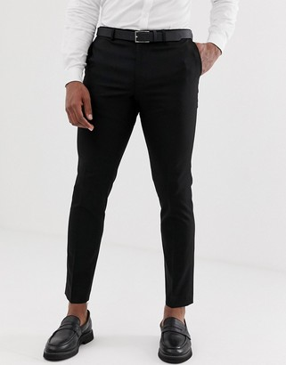 Burton Menswear skinny suit trousers in black