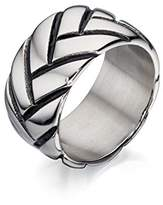 Fred Bennett Stainless Steel Tyre Design Ring - Size R