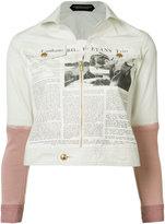 Undercover newspaper print jacket