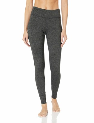 Core 10 Build Your Own Yoga Pant Full-Length Legging Dark Heather Grey Cross Waist M (8-10) - Tall