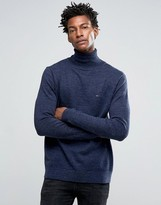 Hilfiger Denim Rollneck Jumper With Small Logo
