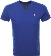 Psycho Bunny Classic V Neck T Shirt Blue