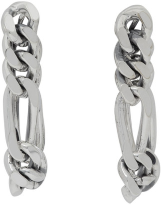 Bottega Veneta Silver Chain Link Earrings
