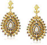 Azaara Florentine Sahara Bead Teardrop Earrings