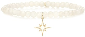 Sydney Evan Exclusive to Mytheresa Starburst 14kt yellow gold and moonstone bracelet