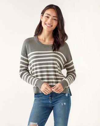 Splendid Bonfire Ribbed Pullover in Stripe